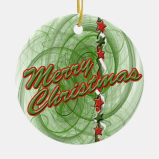 Christmas Spirals & Stars Christmas Ornament
