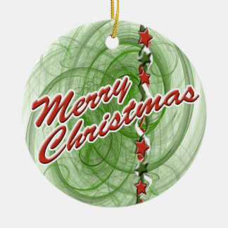Christmas Spirals & Stars Christmas Ornaments