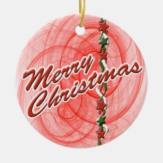 Christmas Spirals & Stars Christmas Tree Ornament