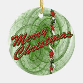 Christmas Spirals & Stars Christmas Tree Ornaments