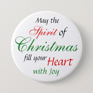 Christmas Spirit Holiday Season Button