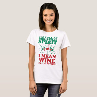 Christmas spirit holiday wine funny festive shirt