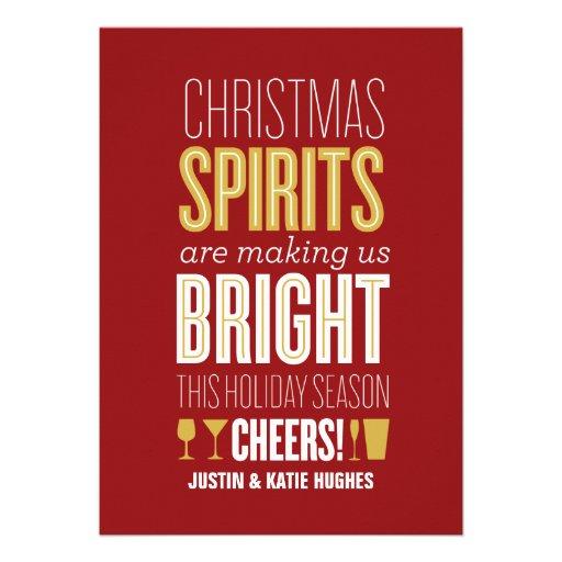 Christmas Spirits Holiday Card Invites