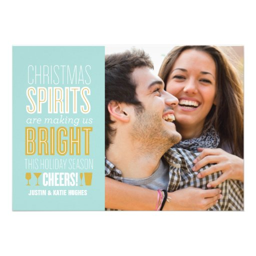 Christmas Spirits Holiday Photo Card Custom Announcement
