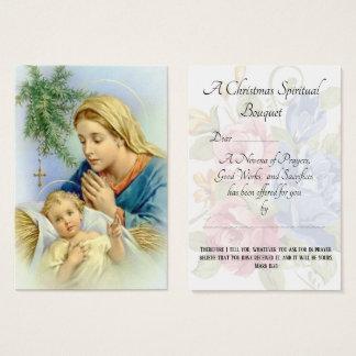 Christmas Spiritual Bouquet Prayer Holy Card