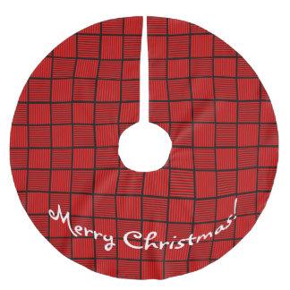 Christmas Squares Red Black Tree Skirt