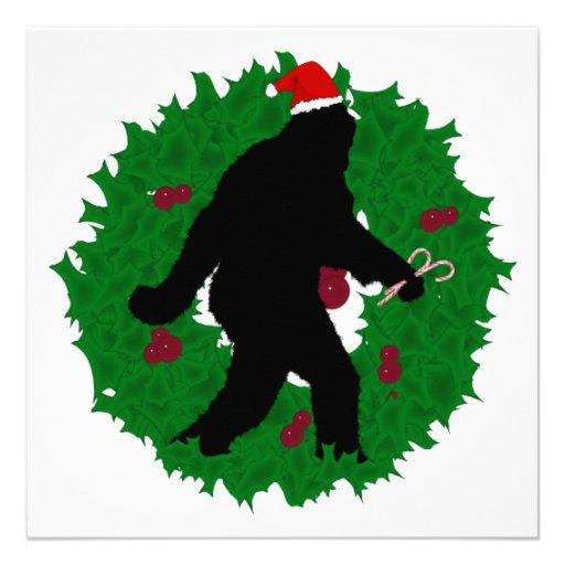 Christmas Squatchin' Custom Invites