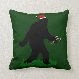 Christmas Squatchin' Throw Pillow