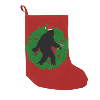 Christmas Squatchin' with Wreath