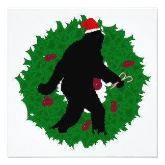 Christmas Squatchin' Wreath Invitations