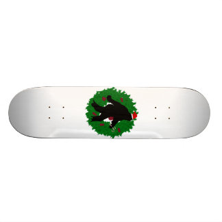 Christmas Squatchin' Wreath Skate Boards