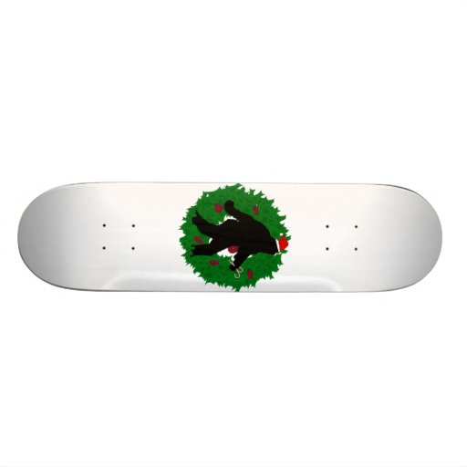 Christmas Squatchin' Wreath Skate Deck