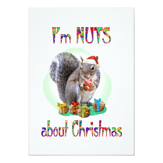 Christmas Squirrel 13 Cm X 18 Cm Invitation Card