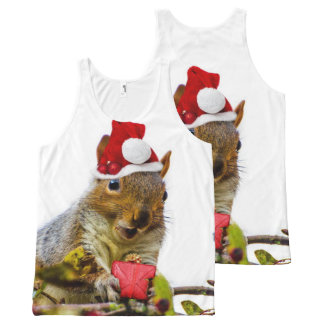 Christmas Squirrel all over print tank top All-Over Print Tank Top