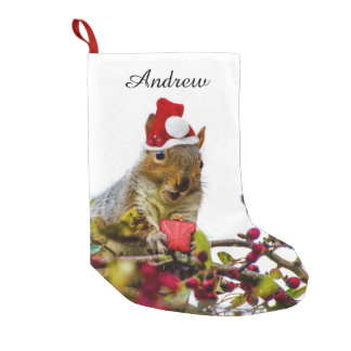 Christmas Squirrel personalized stocking