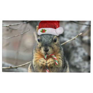 Christmas Squirrel Table Card Holder