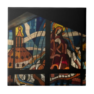 Christmas Stained glass window ceramic tile