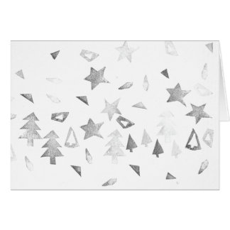 Christmas - stamps of stars & trees card