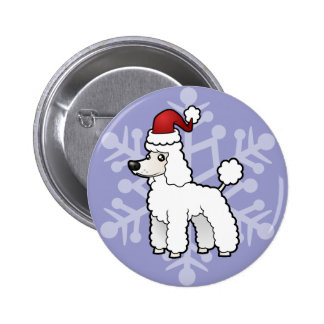 Christmas Standard/Miniature/Toy Poodle puppy cut 6 Cm Round Badge
