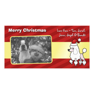 Christmas Standard/Miniature/Toy Poodle (show cut) Personalized Photo Card