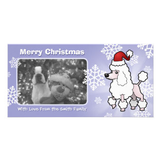 Christmas Standard/Miniature/Toy Poodle (show cut) Photo Card Template