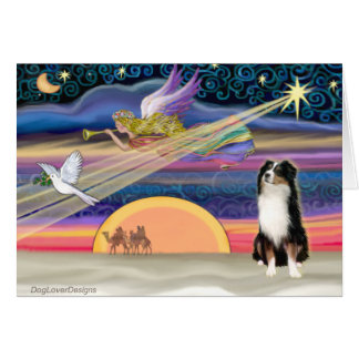Christmas Star - Australian Shepherd (Tri) Card
