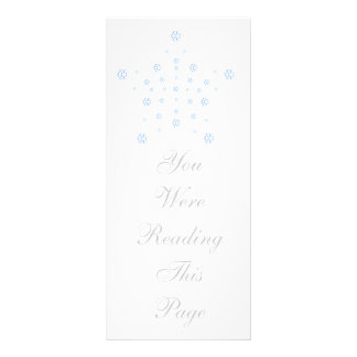 Christmas Star Bookmark Template Rack Card