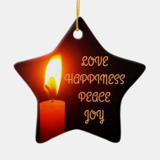 CHRISTMAS STAR CERAMIC ORNAMENT
