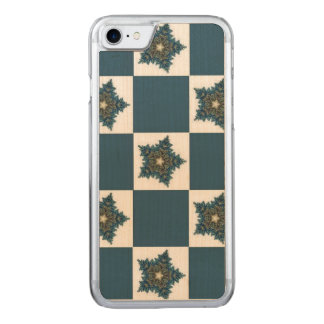 Christmas Star Checkerboard Carved iPhone 7 Case