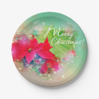 Christmas star, Christmas, Watercolor Paper Plate