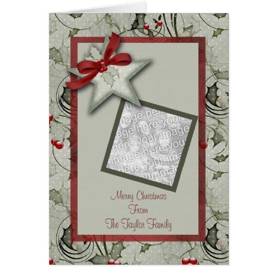 Christmas Star Frame Card