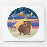 Christmas Star - Guinea Pig 3 Mouse Pad
