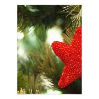 Christmas Star 4.5x6.25 Paper Invitation Card