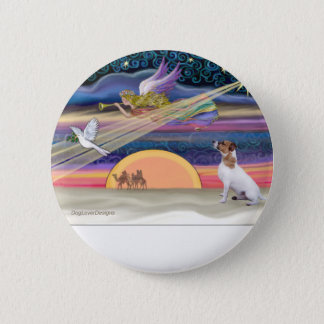 Christmas Star - Jack Russell Terrier 6 Cm Round Badge