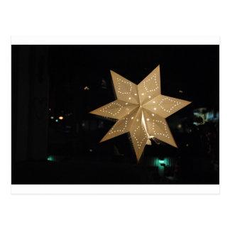 Christmas Star Light Postcard