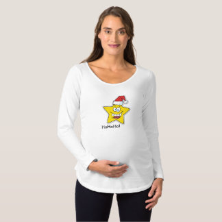 Christmas Star Maternity T-shirt