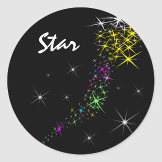 Christmas Star Round Sticker