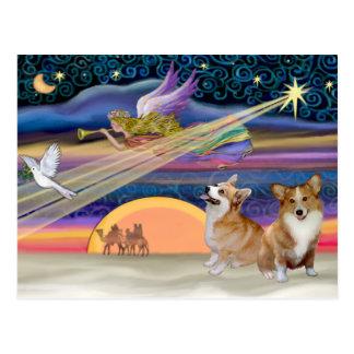 Christmas Star - Welsh Corgi (two) Postcard