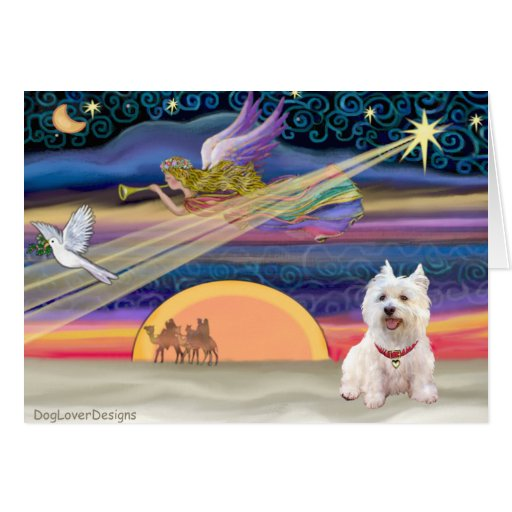 Christmas Star - West Highland Terrier 5 Greeting Cards