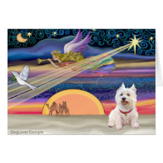 Christmas Star - West Highland Terrier 5 Greeting Card