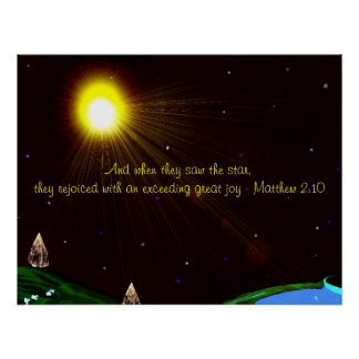 Christmas Star with Scripture Poster