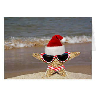 Christmas Starfish on Vacation Card