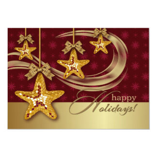 "Christmas Stars Design Christmas Party Invitation 5"" X 7"" Invitation Card"