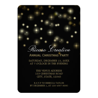 Christmas Stars Festive Corporate Party Card