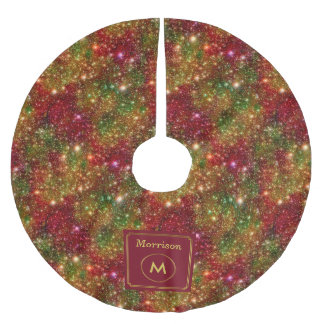 Christmas Stars Galaxy Cosmic Outer Space Glitter Brushed Polyester Tree Skirt
