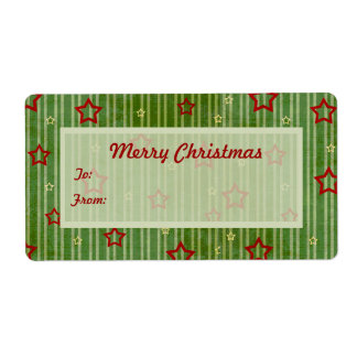 Christmas Stars Gift Tags Shipping Label