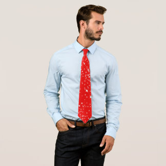 Christmas Stars on (your Color) Tie
