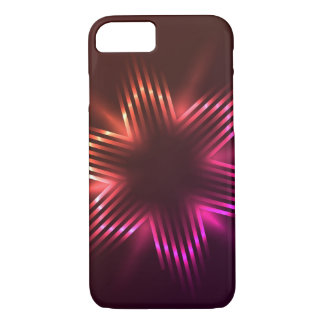Christmas stars shaped with light / Case
