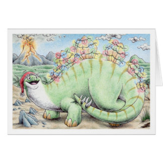 Christmas Stegosaurus Card