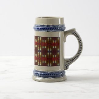 Christmas Stein - Candles / patterned paper design Coffee Mugs